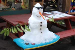 Schneemann in Hawaii