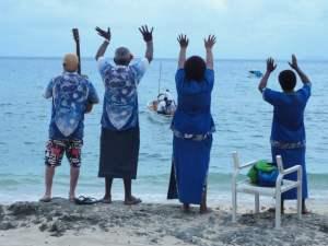 Abschied & Begrüssung auf Waya Lailai