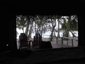 Die Aussicht aus dem Safari-Zelt
