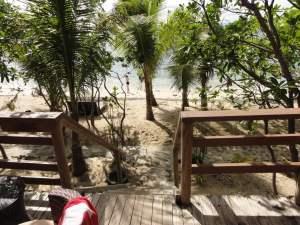 Unsere Terasse im Mantaray Resort