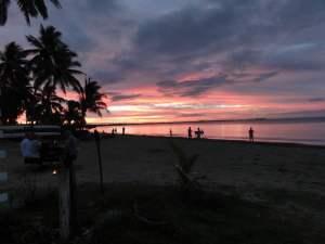 Sonnenuntergang am letzten Abend in Nadi