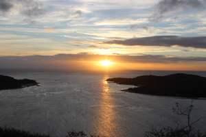Sonnenaufgang auf Goat Island