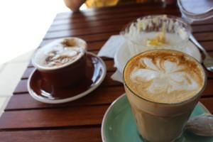 Zum Kuchen gabs Kaffee