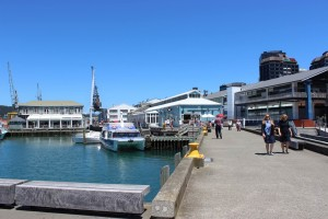 Am Hafen in Wellington