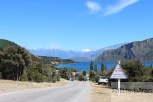 Aussicht beim Campingplatz in Wanaka