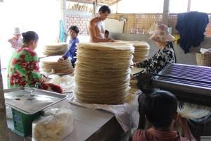 Herstellung von Reisnudeln