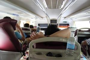 Im bequemen Sleeper-Bus